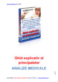 Ghid explicativ al pricipalelor Analize Medicale